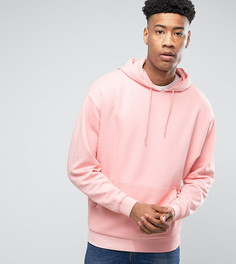 Oversize-худи розового цвета ASOS TALL - Розовый