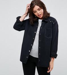 Джинсовая куртка с заклепками и карманом Alice & You - Черный