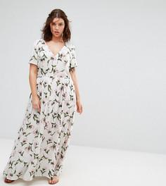 Чайное платье макси с цветочным принтом Alice & You - Мульти