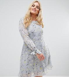Приталенное платье с расклешенной юбкой и цветочным принтом Alice & You - Мульти
