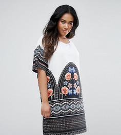 Платье с принтом Junarose - Мульти
