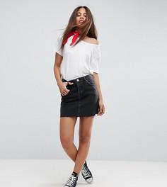 Черная джинсовая мини-юбка ASOS TALL - Черный