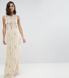 Декорированное кружевное платье макси Maya Petite - Розовый