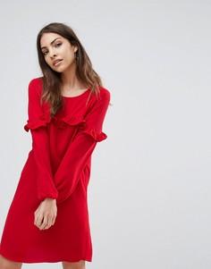 Платье с оборками Only Alex - Красный