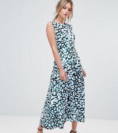 Платье миди с леопардовым принтом Every Cloud - Мульти