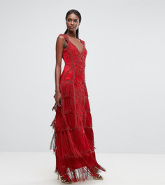 Платье макси с бахромой A Star Is Born - Красный