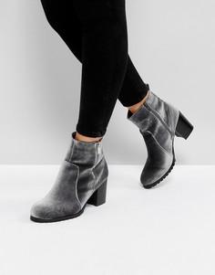 Бархатные ботинки Head Over Heels by Dune Pipaa - Серый