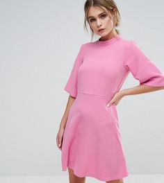 Свободное платье с высоким воротником Closet London - Розовый