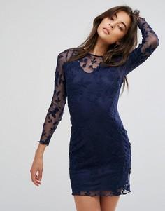 Кружевное платье Parisian - Темно-синий