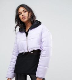 Укороченная дутая куртка Missguided - Фиолетовый
