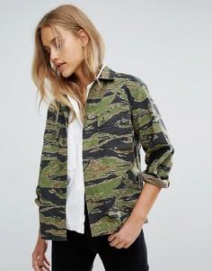 Камуфляжная куртка M.i.h Jeans - Зеленый