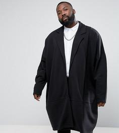 Длинная трикотажная куртка свободного кроя ASOS PLUS - Черный