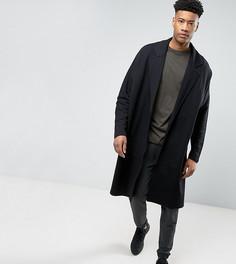 Легкая трикотажная оверсайз-куртка удлиненного кроя ASOS TALL - Черный