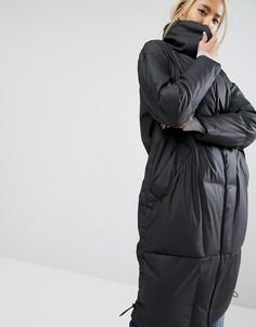 Стеганая дутая куртка с матовой отделкой ASOS WHITE - Черный