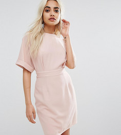Тканое платье мини с V-образным вырезом сзади ASOS PETITE - Розовый