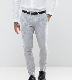 Супероблегающие брюки с бархатистой отделкой Noose & Monkey Wedding - Серый