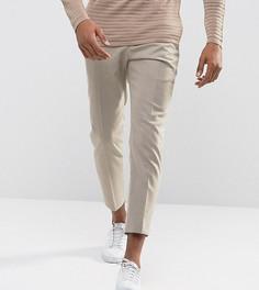Фланелевые брюки суженного книзу кроя Noak - Светло-серый