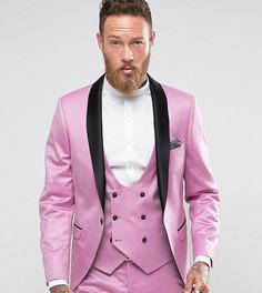 Супероблегающий пиджак-смокинг Noose & Monkey - Розовый