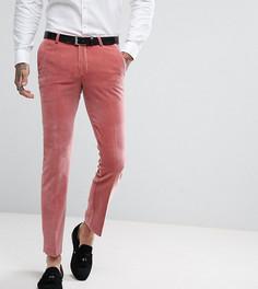 Суперузкие бархатные брюки Noose & Monkey - Розовый