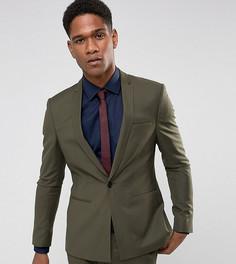Супероблегающий пиджак цвета хаки с ровным краем Noak - Зеленый