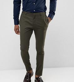 Супероблегающие брюки цвета хаки Noak - Зеленый