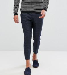 Суженные укороченные брюки из фактурной ткани Noak - Темно-синий