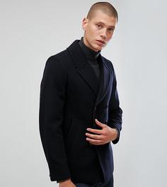 Пальто-бушлат с добавлением шерсти Heart & Dagger - Темно-синий