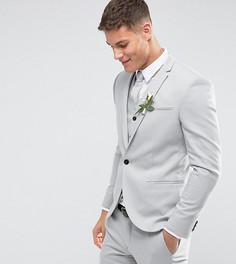 Светло-серый свадебный пиджак скинни Noak - Серый
