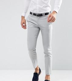 Светло-серые свадебные брюки скинни Noak - Серый