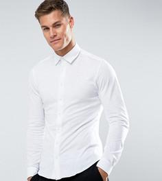 Приталенная трикотажная рубашка Noak - Белый