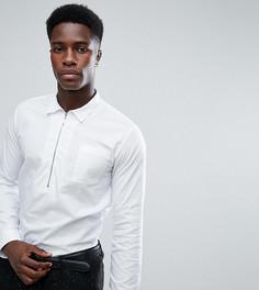 Рубашка зауженного кроя на молнии до груди Noak - Белый