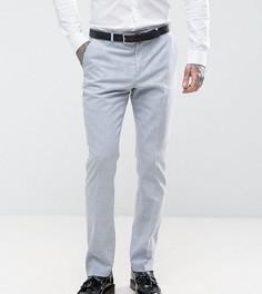 Узкие свадебные брюки из льняной ткани в клетку Heart & Dagger - Синий