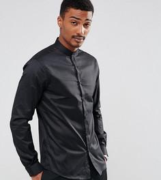 Приталенная рубашка с воротником на пуговице Noak - Черный