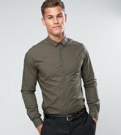 Приталенная рубашка Noak - Зеленый