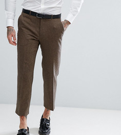 Прямые укороченные брюки из твида Heart & Dagger - Коричневый