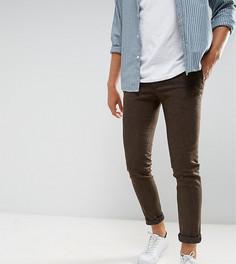 Супероблегающие строгие брюки из эластичного твида Heart & Dagger - Коричневый
