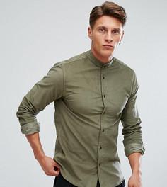 Облегающая рубашка в стиле ретро Heart & Dagger - Зеленый
