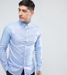 Приталенная рубашка с воротником на пуговицах Heart & Dagger - Синий