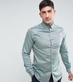 Приталенная рубашка с воротником на пуговицах Heart & Dagger - Зеленый