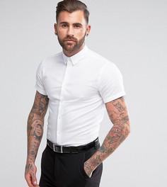 Зауженная рубашка с короткими рукавами и воротником на пуговицах Heart & Dagger - Белый