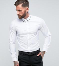 Зауженная рубашка с отделкой Heart & Dagger - Белый