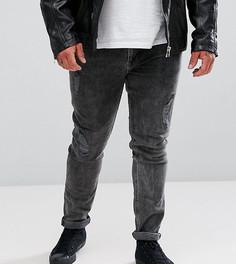 Черные выбеленные супероблегающие джинсы с рваной отделкой ASOS PLUS - Черный