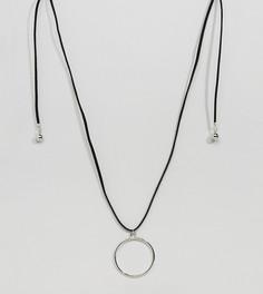 Ожерелье в несколько оборотов с кольцом Reclaimed Vintage Inspired - Черный