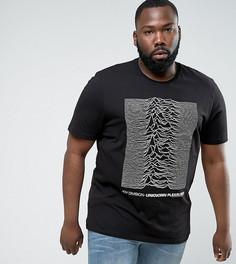Длинная футболка с принтом Joy Division ASOS PLUS - Черный