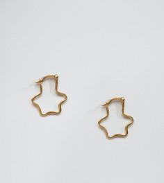 Серьги-кольца в форме звезд Reclaimed Vintage Inspired - Серебряный