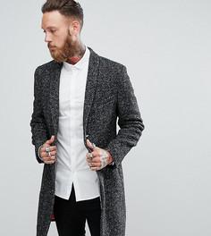 Пальто в крапинку с шалевым воротником Noose & Monkey - Серый