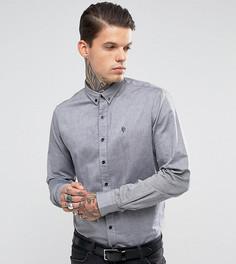 Оксфордская рубашка скинни Noose & Monkey - Черный