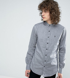 Оксфордская рубашка скинни с пуговицами на воротнике Noose & Monkey - Черный