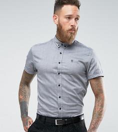 Оксфордская рубашка скинни с коротким рукавом Noose & Monkey - Черный