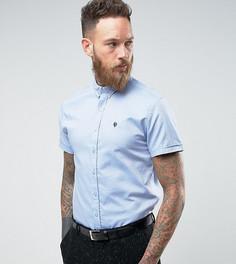 Оксфордская рубашка скинни с коротким рукавом Noose & Monkey - Синий